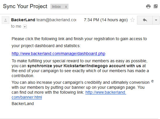 BackerLand Review of Email Syncing